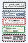 5 HUSBAND or WIFE Greeting Card Crafts Scrapbook Sentiment Message Banners