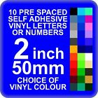 10 x 2 inch or 50mm Self Adhesive Vinyl Letters or Numbers