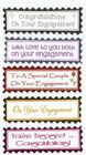 5 On Your Engagement,  Congratulations Greeting Card Craft Sentiment Banner Tags