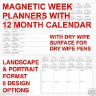 Magnetic Calendar with 7 Day Week Planner Message Space with Dry Wipe Surface A4