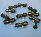 """1/4"""" Slip-Lok Tees 10/24 UNC Greenhouse Brass Misting Nozzle Cooling System"""