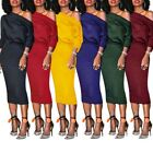 women club outfits - Fashion Outfit Women Simple Plain Solid Body-Con Midi Cocktail Party Club Dress