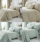 EBONY WOVEN DAMASK QUILT/DUVET COVER SETS AND MATCHING CURTAINS AND ACCESSORIES. image