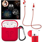Waterproof Rubber Case Cover Strap & Earbud Holder For Apple Airpods Air Pods