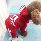 Super Cute Warm Fleece Adidog Hoodie Sweater jumpsuit Clothes For Pet Dog Cat