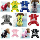 Внешний вид - Super Cute Warm Fleece Adidog Hoodie Sweater jumpsuit Clothes For Pet Dog Cat