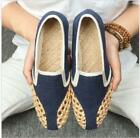 Men's Slip On Loafers Breath Woven Chinese Oxfords Summer Creepers Retro Shoes 7
