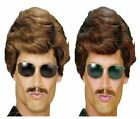 Used Car Salesman Magnum PI 1980's 80's Stag Night Fancy Dress Wig Adult