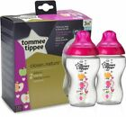 Tommee Tippee Closer 150ml / 260ml /340ML Feeding Decorated Bottles Blue / Pink