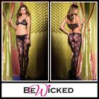 Sexy Lingerie Bodystocking aperta Cut Out Front Be Wicked Intimo Donna Catsuit