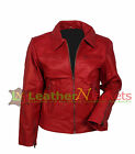 Women's Fashion Slim Fit Casual Business Suit Lady Real Leather Outwear Jacket