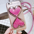 Bling Glitter Quicksand Hourglass Soft Back Phone Dynamic Cover Case & strap #4