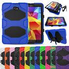 TPU Screen Protector Silicone Military Stand Case Cover For Samsung Galaxy Tab A