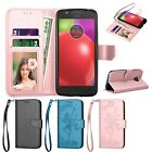 For Motorola Moto E4 / E4 Plus Wallet Leather Case Flip Stand Card Phone Cover