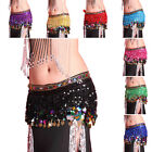 Kyпить Belly Dance Hip Skirt Scarf Wrap Belt Hipscarf with Gold/Silver Coins US Seller на еВаy.соm