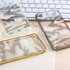 Thin Camouflage Camo TPU+PC Bumper Soft Phone Case Cover For iPhone 7 8 Plus X 6