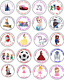 30 PERSONALISED BIRTHDAY PARTY SWEET CONE/BAG LABELS/STICKERS/SEALS ANY DESIGN