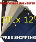 10' x 12' Workhorse Polyester Waterproof Breathable Canvas Tarp