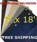 8' x 18' Workhorse Polyester Waterproof Breathable Canvas Tarp