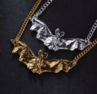 Bat Necklace, Pendant, Silvertone or Goldtone, Great for Halloween