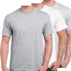 Men T shirt Basic Crew Neck Cotton Tee Plain color T-shirts 6XL, 7XL Big & Tall image