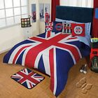 New Boys Mens London England Flag Blue Red Comforter Set Bedding Decor by Intima