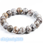 10mm Mixed Natural Gemstone Round Beads Stretchy Bracelet 7 inch Y04