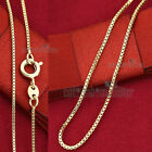 18k Plain Yellow Gold Filled Solid Box Chain Thin Long Necklace For Pendant Gift