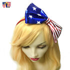 American Flag Tie Bow Women Girl Headband Hair Hoop Band Patriotic 4th of July