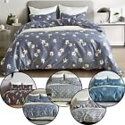 Printed Duvet Cover Set with Zipper Closure 3-piece Twin Queen King US Size New