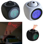 Projection Alarm Clock LCD Time Temp Diplay Wall Multifunctional Voice Talking