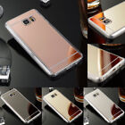 For Samsung Galaxy S7 /S7 Edge Thin Mirror Shockproof Rubber Bumper Case Cover