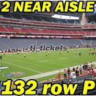 2 LOWERS: Buffalo Bills @ Houston Texans NFL FOOTBALL 10/14 132rowP on eBay