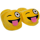 Emoji House Slippers Funny Soft Plush For Adults Kids Teens Bedroom Smiley Fun