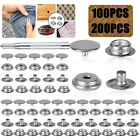 Stainless Steel Fastener Snap Press Stud Cover Cap Button Marine Boat Canvas Set