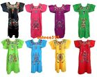 ANY COLOR Mexican Puebla Dress Embroidered FLORAL S M L XL 2X 3X