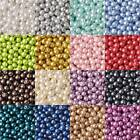 3~16mm Round Pearl Coated Opaque Glass Loose Spacer Beads Jewelry Findings