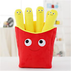 Simulation Pizza Fries Plush Pillow Soft Toy Sofa Food Cushion Doll Kids Gifts