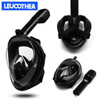 180° View Anti-Fog Full Face Mask Underwater Swimming Snorkel Scuba For GoPro US