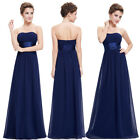 Ever-pretty UK Long Strapeless Bridesmaid Dresses Navy Blue Evening Gown 09955