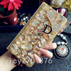 Handmade Girls fashion Jewelled Bling Crystal Diamond PU leather flip Case Cover
