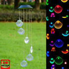 Solar Color Changing LED Ball Shell Wind Chimes Home Garden Decor Light Lamp US