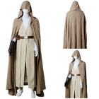 Star Wars 8 The Last Jedi Skywalker Luke Cosplay Costume Brown Outfit Robe Cape