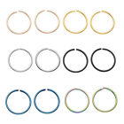 20G Stainless Steel Hinged Clicker Hoop Helix Cartilage Stud Tragus Ring 6Colors