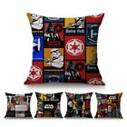 Modern Pop Art Star Wars  Pillow Case BB8 Princess Leia Yoda Darth Cushion Cover $3.49 USD on eBay