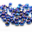 Crystal Glass Beads Rondelle Austria Faceted Loose Spacer Round for Jewerly Mak