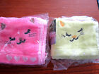 Cat & Music Notes / Hearts Baby Kids Soft Cleaning Towel Face Hand Wash Cloth BN