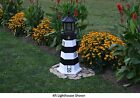 Amish-Made Replica Bodie Island, NC Lighthouses with Solar-Powered LED Lighting!