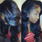 Real Thick Brazilian Human Hair Full Lace Wig 100% Natural 360 Lace Frontal Hair