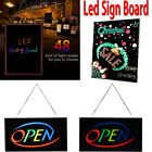 Flashing Illuminated Erasable Neon LED Message Menu Writing Sign Board w/ Remote